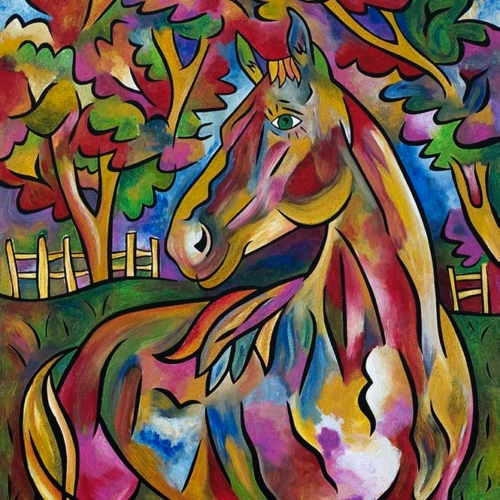 Charlotte's Horse - Painting by Joel Traylor