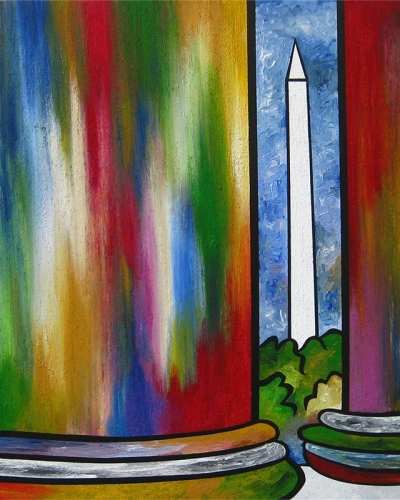 Monumental Columns painting by Joel Traylor