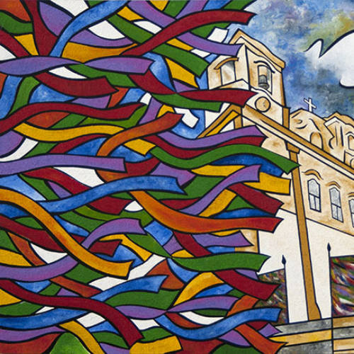 """Church of Nosso Senhor Bomfim"" painting by Joel Traylor"