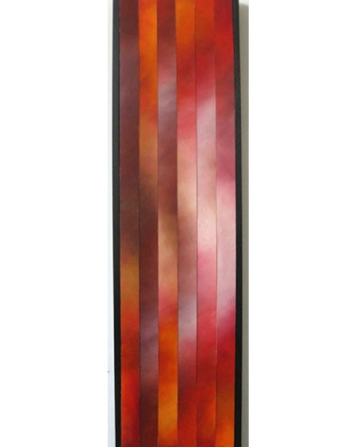 """Rising, 10"", 9""x36"", Oil on canvas, reassembled, 2010 by Joel Traylor"