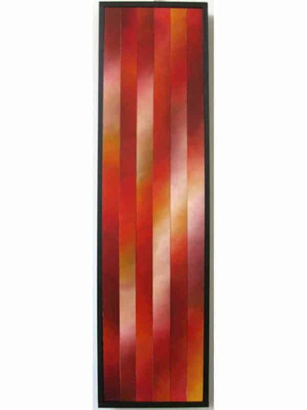 """Rising, 9"", 9""x36"", Oil on canvas, reassembled, 2010"