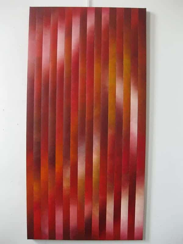 """Veils 12"" - 24""x48"", oil on canvas, reassembled, by Joel Traylor"