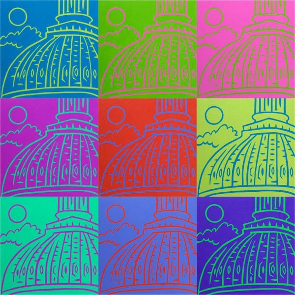"""""""Capitol Colors"""" pop art Washington DC created with combination of photography and photoshop"""