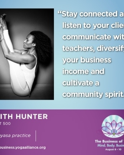 Web graphic created for Yoga Alliance