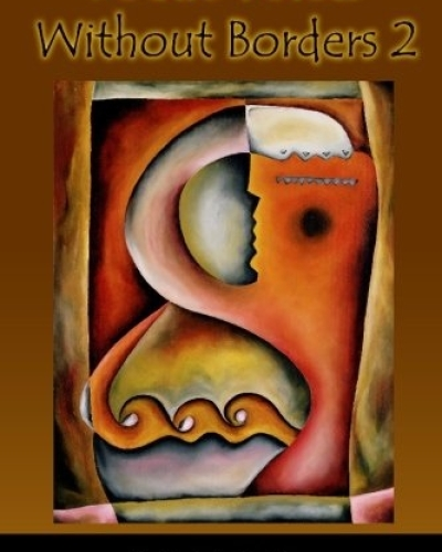 """Cover art and design for book """"Poetic Voices without Borders 2"""" for Gival Press"""