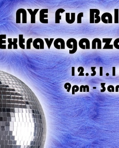 Web and print collateral for New Years Eve Fur Ball Extravaganza.