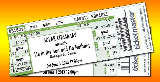 """Web and print design for Washington DC event """"Lie in the Sun and Do Nothing"""""""