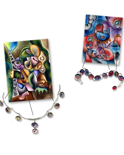 Print collateral for jewelry product line