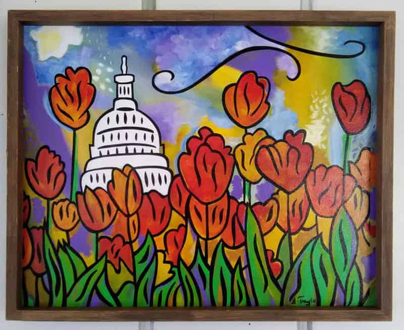 Hope for the Flowers, US Capitol with Tulips, by Joel Traylor