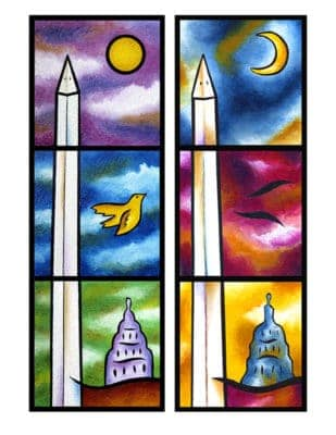 """""""Monumental"""" ~ Acrylic and sand on six canvases, by Joel Traylor Art"""
