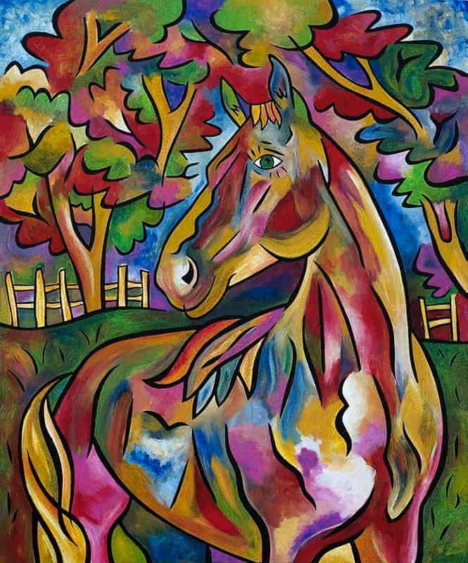 Daisy, commissioned horse painting by Joel Traylor