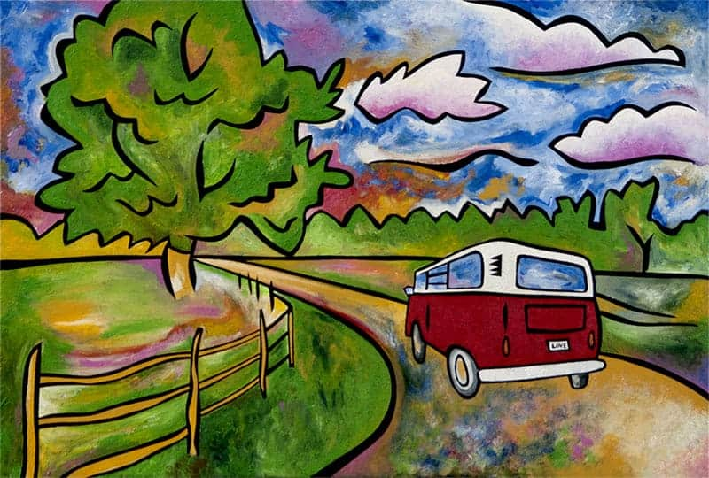 Day Tripper road trip painting