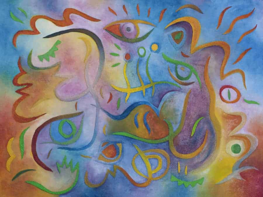 jubilee abstract painting by Joel Traylor