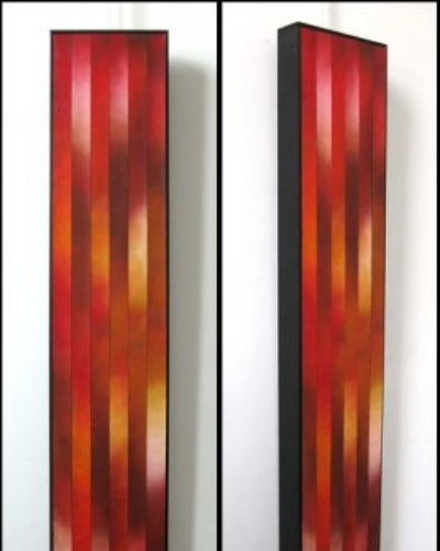 """Rising, 1"", 9""x48"", Oil on canvas, reassembled, 2010 by Joel Traylor"