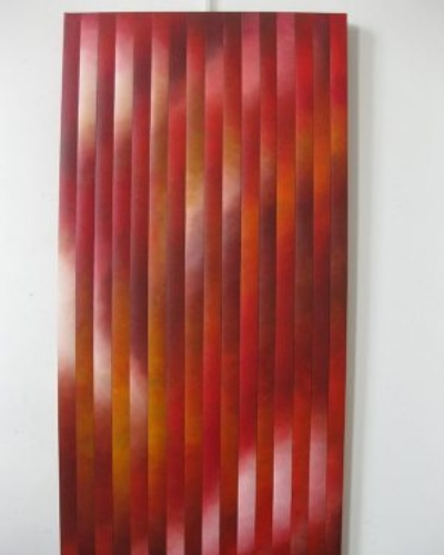 """Veils 11"" - 24""x48"", oil on canvas, reassembled by Joel Traylor"
