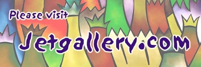 Web banner for Jetgallery.com