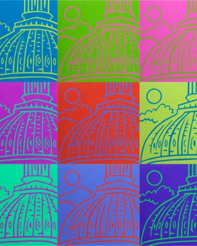 """Capitol Colors"" pop art Washington DC created with combination of photography and photoshop"