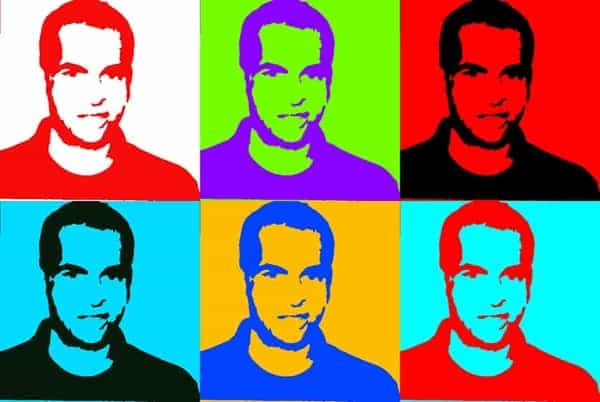 Pop Art Portrait created with Photoshop