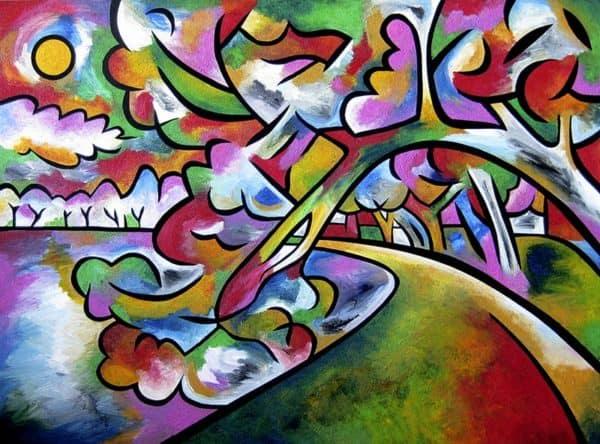 Tidal burst painting