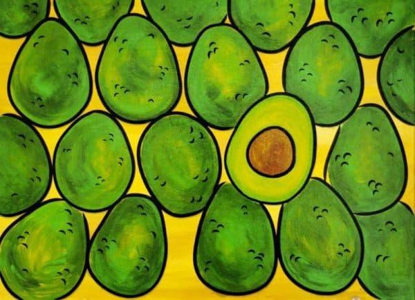 Avocados painting