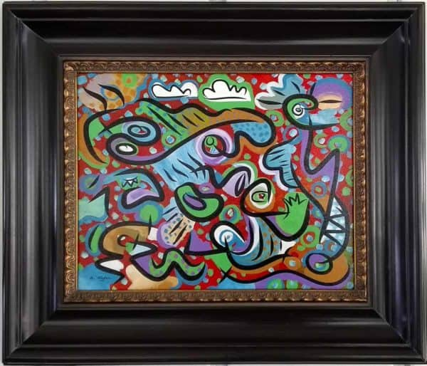 summer carnival abstract painting