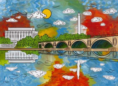 capitol clouds painting