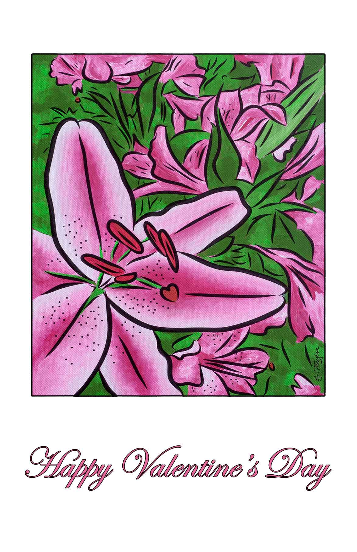 Happy Valentines Day! - free greeting card to download and print 1