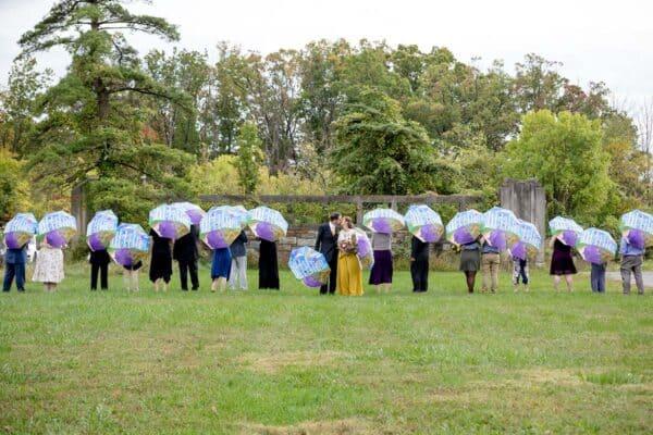 Custom umbrella wedding
