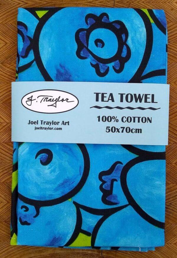 Tea Towel ~ Blueberries 1