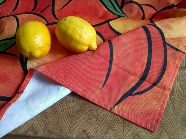 Tea Towel ~ Peaches 1