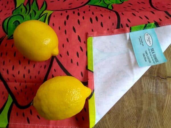 Tea Towel ~ Strawberries 3